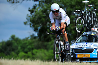CYCLING - TOUR DE FRANCE 2010 - PAUILLAC (FRA) - 24/07/2010 - PHOTO : ELODIE FROMENT / DPPI - <br /> STAGE 19 - INDIVIDUAL TIME TRIAL - ANDY SCHLECK (LUX) / SAXO BANK -