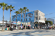 Surfside Bar and Other Novelty Shops on the Boardwalk in Venice Beach
