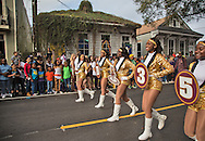 Zulu parade on Mardi Gras day in New Orleans.