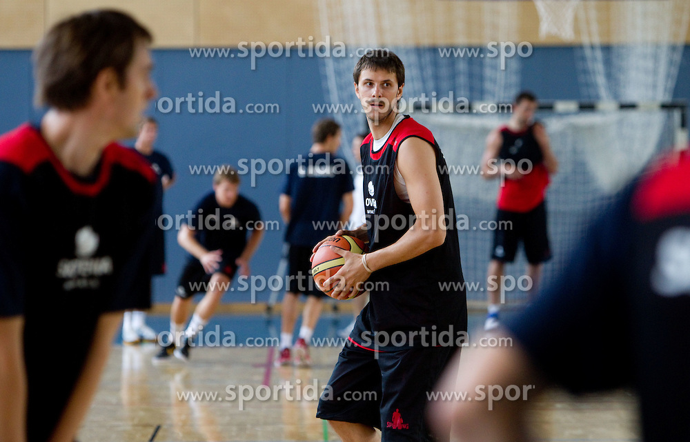 Bostjan Nachbar during media day at training camp of Slovenian National Basketball team for Eurobasket Lithuania 2011, on July 19, 2011, in Arena Ljudski vrt, Ptuj, Slovenia.  (Photo by Vid Ponikvar / Sportida)