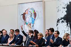 "© Licensed to London News Pictures. 07/10/2016. London, UK.   ""Pilot"" by George Condo sold for a hammer price of £550k (est £375-475k) at Sotheby's Italian and Contemporary Art evening sale in New Bond Street. Photo credit : Stephen Chung/LNP"