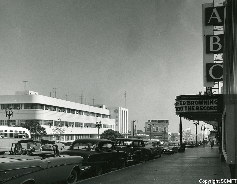 1957 NBC Radio City at Sunset Blvd. & Vine St.
