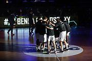 Basketball: Deutschland, 1. Bundesliga, Hamburg Towers -  EWE Baskets Oldenburg, Hamburg, 14.04.2021<br /> Teamhuddle: Hamburg Towers<br /> © Torsten Helmke