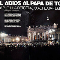 USE ARROWS ← → on your keyboard to navigate this slide-show<br /> <br /> Gente - News magazine from Argentina<br /> Funerals of the Pope John Paul II.<br /> Photo: Ezequiel Scagnetti