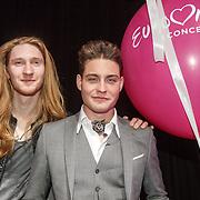 NLD/Amsterdam/20160409 - Eurovision in Concert 2016, Douwe Bob met Ivan - Belarus