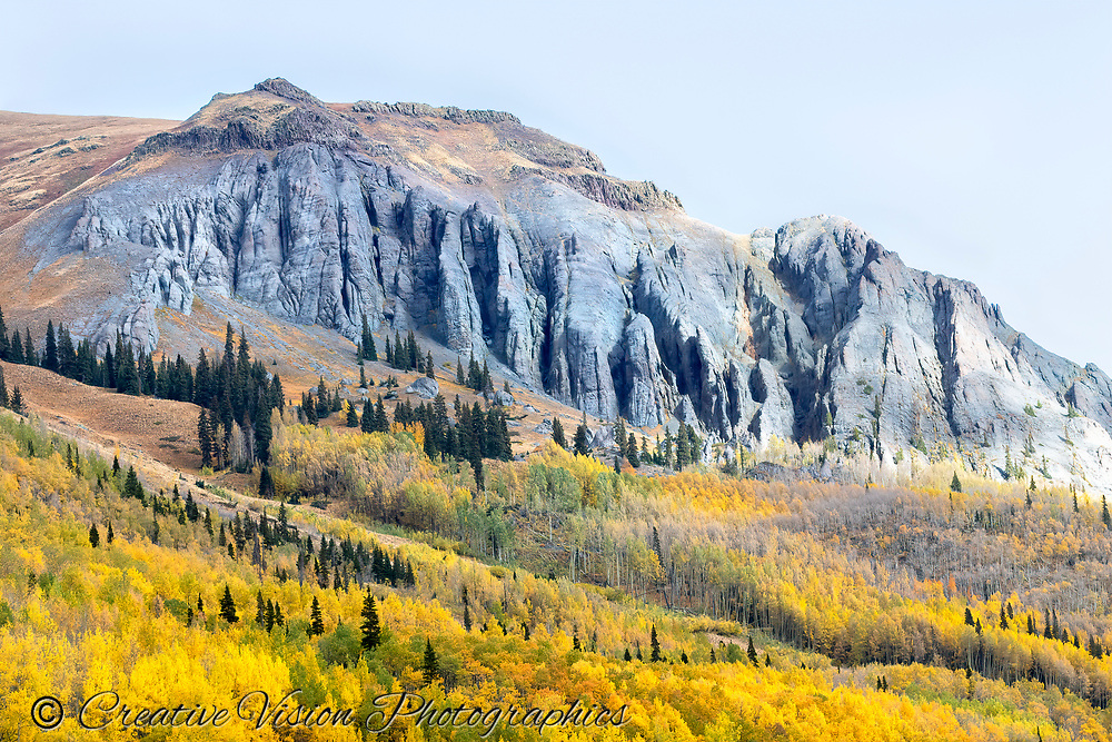 Autmn spendor viewed from the Mears Trail south of Ouray, Colorado