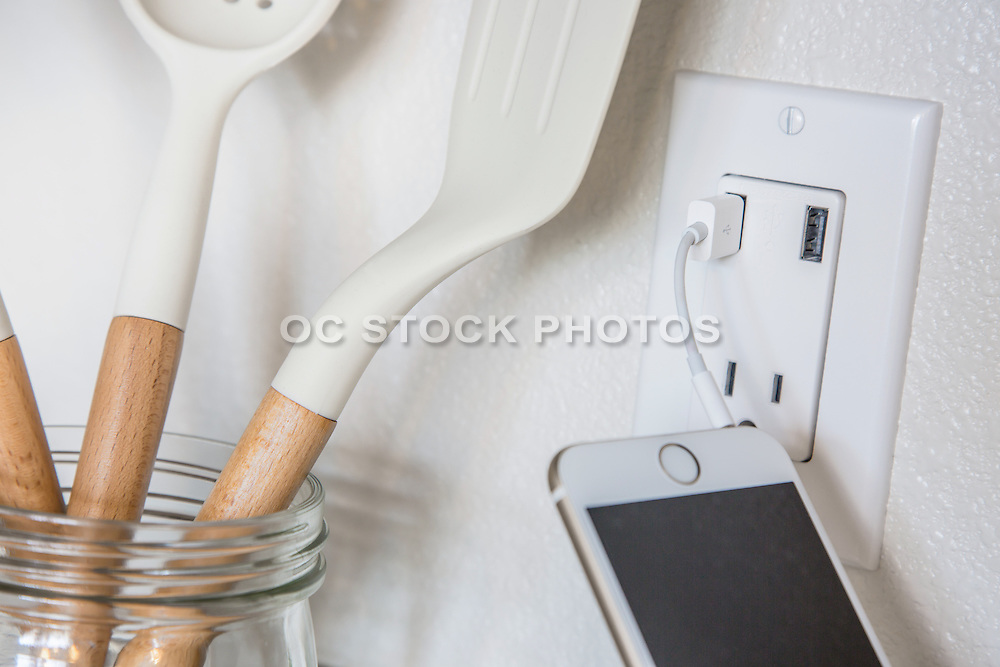 USB Receptacle Face Plate in the Kitchen