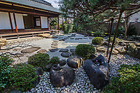 The Issa Soju Memorial Hall in Nagareyama commemorates Issa Kobayashi, a renowned Japanese haiku poet in the 18th and 19th centuries and Soju Akimoto, a brewer of mirin. Issa Kobayashi visited Nagareyama often to see Sanzaemon Akimoto whose pen name was Soju. The home of Akimoto family showcases the Sojutei outer garden, Issa-an dry garden. Sojutei was originally built as the library and study of the Akimotos in the style of a tea-ceremony house. It has been restored, and consists of Okunoma, Nakanoma and Ochanoma with verandas  facing east, west and south overlooking the dry garden.  Issa-an consists of an eight tatami-mat room and is used for tea ceremonies and gathering of haiku poets.  The Issa-Soju Memorial Hall opened in 1995 to commemorate <br /> the friendship and correspondence between Soju Akimoto and Issa Kobayashi.
