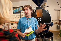 Mike King of Bean North Coffee Roasting describes his company's commitment to Fair Trade