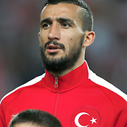 Turkey's Mehmet Topal during their UEFA Euro 2016 qualification Group A soccer match Turkey betwen Czech Republic at Sukru Saracoglu stadium in Istanbul October 10, 2014. Photo by Aykut AKICI/TURKPIX