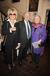 Left to right, artist BASIA HAMILTON, her hisband IAN HAMILTON and FIONA GOETZ at a Literary Evening to celebrate the publication of Masters & Commanders by Andrew Roberts held at The Polish Institute and Sikorski Museum, 20 Princes Gate, London SW7 on 1st October 2008.