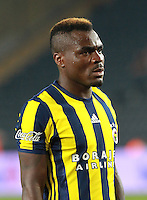 UEFA Champions League Third qualifying round first leg match between Fenerbahce Istanbul and Monaco on July 27, 2016 at the Ulker Stadium in Istanbul,Turkey.<br /> Pictured: Emmanuel Emenike of Fenerbahce.