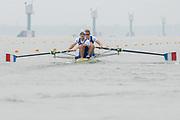 2005, World Rowing Championships, Nagaragawa International Regatta Course, Gifu, JAPAN: Monday  29.08.2005. FRA LM2- Bow Vincent Faucheux and Damien Margat.  © Peter Spurrier/Intersport Images - email images@intersport-images.com