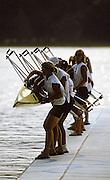 Barcelona,  SPAIN, USA W8+ Christina BROWN, Shannon DAY , Sarah GENGLER, Kelley JONES , Elisabeth McCAGG, Mary McCAGG , Diana OLSON, Tracy RUDE, Yasmin FAROOQ (c) Boating.   a 1992 Olympic Regatta. Lake Banyoles, Nr Barcelona SPAIN,  [Photo, Peter Spurrier/Intersport-images]...