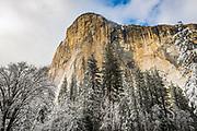 El Capitan in winter, Yosemite National Park, California USA
