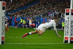 February 2, 2020, Saint Denis, Seine Saint Denis, France: The Wing of England Team JOHNNY MAY in action during the Guinness Six Nations Rugby tournament between France and  England at the Stade de France - St Denis - France.. France won 24-17 (Credit Image: © Pierre Stevenin/ZUMA Wire)