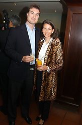 LORD & LADY ROBIN RUSSELL at a fundraising dinner for the charity 'Elephant Family' held at The Bombay Brasserie, Gloucester Road, London on 26th April 2005.<br /><br />NON EXCLUSIVE - WORLD RIGHTS