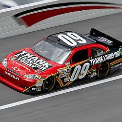 April 16, 2011; Talladega, AL, USA; NASCAR Sprint Cup Series driver Landon Cassill (09) during qualifying for the Aarons 499 at Talladega Superspeedway.   Mandatory Credit: Derick E. Hingle