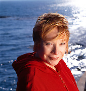 Shirley MacLaine, actress, photographed at her home in Malibu, California.
