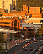 Skyline, Reading, PA including Reading Eagle building and Miller Center for the Arts