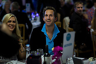 Sir Ben Ainslie at the Sail Aid UK charity dinner this evening at Land Rover BAR in Portsmouth, the home of Sir Ben Ainslie's America's Cup team. The Sail Aid UK charity was created following the devastating hurricanes that struck the Caribbean in September this year. Their mission is to help those Islands and their communities that were so tragically affected by the hurricanes to rebuild, restore, and regenerate their communities, be it through educational, health and welfare, building, or tourism promotion projects.<br /> Picture date: Saturday November 11, 2017.<br /> Photograph by Christopher Ison ©<br /> 07544044177<br /> chris@christopherison.com<br /> www.christopherison.com