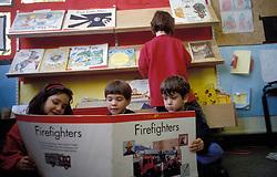 Book corner in primary school, UK