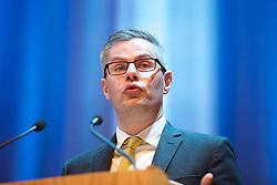 Scottish Finance Secretary Derek Mackay addressing the Scotch Whisky Association annual members' day at the Assembly Rooms. pic Terry Murden @edinburghelitemedia