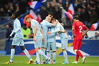 joie de Franck Ribery (France) apres son but - joie des joueurs francais