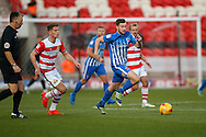 Hartlepool United  midfielder Lewis Hawkins (18)  runs with the ball during the EFL Sky Bet League 2 match between Doncaster Rovers and Hartlepool United at the Keepmoat Stadium, Doncaster, England on 19 November 2016. Photo by Simon Davies.