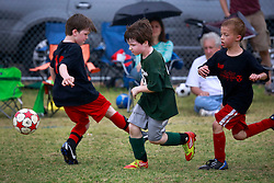 23 March 2013. New Orleans, Louisiana,  USA. .Carrolton Boosters Soccer. Under 8's. Semi finals. Soldiers emerge victorious over the Lasers taking them to the finals. .Photo; Charlie Varley.
