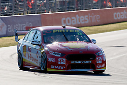 October 7, 2018 - Bathurst, NSW, U.S. - BATHURST, NSW - OCTOBER 07: Scott McLaughlin / Alexandre Pr?mat in the Shell V-Power Racing Team Ford Falcon turns into turn one at the Supercheap Auto Bathurst 1000 V8 Supercar Race at Mount Panorama Circuit in Bathurst, Australia. (Photo by Speed Media/Icon Sportswire) (Credit Image: © Speed Media/Icon SMI via ZUMA Press)