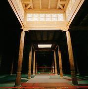 Inside the Uyghur Mosque, next to the Emin Minaret in Turfan, Xinjiang, China