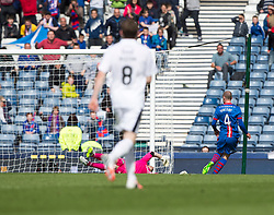 Inverness Caledonian Thistle's James Vincent scoring their second goal. Falkirk 1 v 2 Inverness CT, Scottish Cup final at Hampden.
