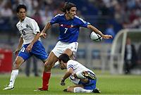 Fotball<br /> EM-kvalifisering<br /> Frankrike v Israel<br /> 4. september 2004<br /> Foto: Digitalsport<br /> NORWAY ONLY<br /> ROBERT PIRES (FRA) / ARIEL BANADO / IDAN TAL (ISR)