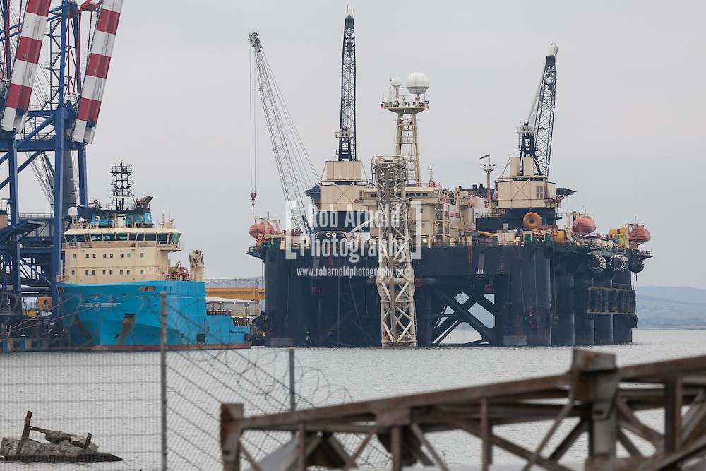 Castoro Sei, one of Saipem's pipe lay barges affected by the cancellation of South Stream in the port of Burgas, Bulgaria. Photo by Rob Arnold