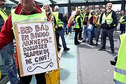 Nederland, Nijmegen, 11-5-2019 Landelijke demonstratie van Gele Hesjes door de binnenstad. Hoewel de opkomst wat tegenviel vetrok de bonte stoet vanaf het station naar Plein44 .  Foto: Flip Franssen.