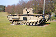 Tank at the Muckleburgh Collection of military vehicles, Weybourne, Norfolk, England