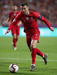 March 22, 2019 - Lisbon, Portugal - Portugal's forward Cristiano Ronaldo in action during the UEFA EURO 2020 group B qualifying football match Portugal vs Ukraine, at the Luz Stadium in Lisbon, Portugal, on March 22, 2019. (Credit Image: © Pedro Fiuza/NurPhoto via ZUMA Press)