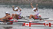 Shunyi, CHINA.  NED LW2X, Bow Kirsten van de KOLK and Marit van EUPEN winning the gold medal at the 2008 Olympic Regatta, Shunyi Rowing Course.  Sun 17.08.2008.  [Mandatory Credit: Peter SPURRIER, Intersport Images