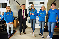 Marusa Mismas, Roman Dobnikar, Maja Mihalinec, Marina Tomic and Martina Ratej during press conference of The Athletic Federation of Slovenia and their best athletes before summer season 2016, on May 16, 2016, in Maximarket, Ljubljana, Slovenia. Photo by Vid Ponikvar / Sportida
