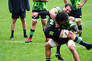 WELLINGTON, NEW ZEALAND -May 25: Du'Plessis Kirifi and Devan Flanders at Hurricanes training run, May 25, 2020 in Wellington, New Zealand. Copyright Photo: Elias Rodriguez / www.photosport.nz