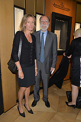 VISCOUNT & VISCOUNTESS COWDRAY at the draw for the Jaeger-LeCoultre Gold Cup held at Jaeger-LeCoultre, 13 Old Bond Street, London on 8th June 2015.