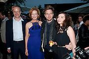 HANS ULRICH OBRIST; JULIA PEYTON-JONES;  Ewan McGregor; Eve Mavrakis, The Summer party 2011 co-hosted by Burberry. The Summer pavilion designed by Peter Zumthor. Serpentine Gallery. Kensington Gardens. London. 28 June 2011. <br /> <br />  , -DO NOT ARCHIVE-© Copyright Photograph by Dafydd Jones. 248 Clapham Rd. London SW9 0PZ. Tel 0207 820 0771. www.dafjones.com.