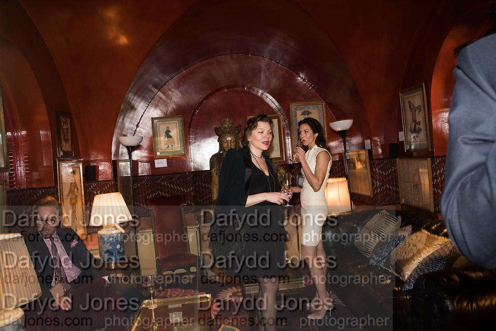ELIZABETH MESHKVICHEVA, NATALIA BONDARENKO, Pedro Girao of Christies and Duncan Macintyre of Lombard Odier host the last dinner at the Old Annabels. 44 Berkeley Sq. London. 15 November 2018