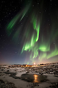 Reykjanes sky by night in winter, Iceland