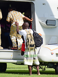 The Caribbean island of Dominica devastated by hurricane Maria, Patients from the hospital are medevaced to Martinique by French military helicopter. 23 Sep 2017 Pictured: The Caribbean island of Dominica devastated by hurricane Maria, Patients from the hospital are medevaced to Martinique by French military helicopter. Photo credit: MEGA TheMegaAgency.com +1 888 505 6342