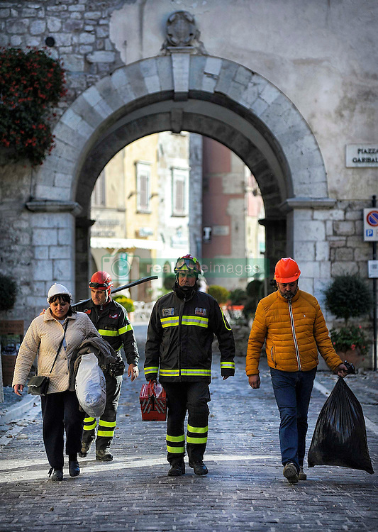 Earthquake in Valnerina. Pictured: Visso province of Macerata. NO WEB *** *** *** NO DAILY