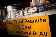 Deep fried peanuts at an organic local produce farmers market in Marion Square in Charleston, South Carolina (photo by Charleston SC photographer Richard Ellis)