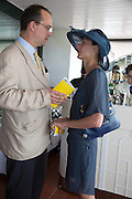 GILES MORGAN; CLAIRE MORGAN, Glorious Goodwood. Thursday.  Sussex. 3 August 2013