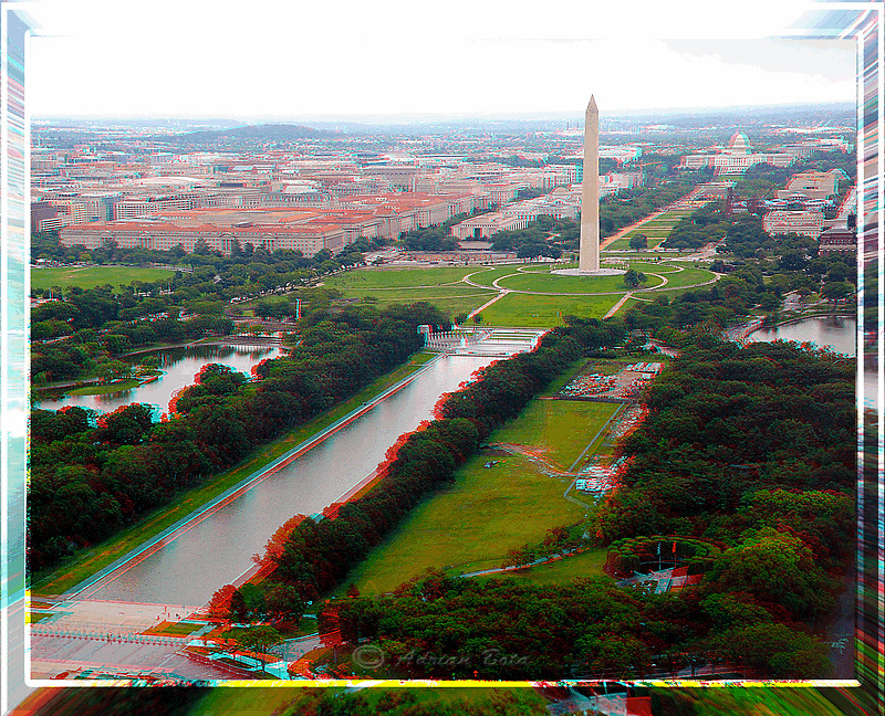 Aerial view of the Mall, Washington DC